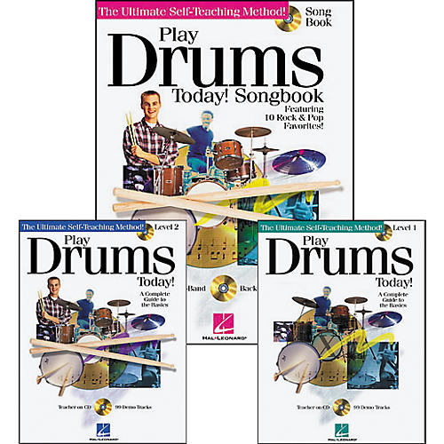 Hal Leonard Play Drums Today! Pack (Book/CD)-thumbnail
