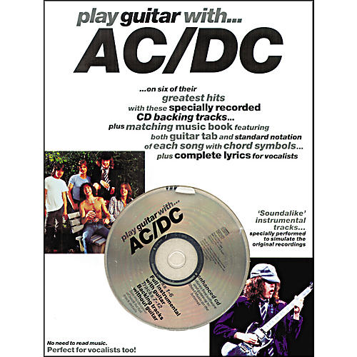 Music Sales Play Guitar with AC/DC Guitar Tab Songbook with CD-thumbnail