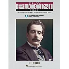 Ricordi Play Puccini (10 Arias Transcribed for Cello & Piano) Instrumental Play-Along Series Softcover with CD