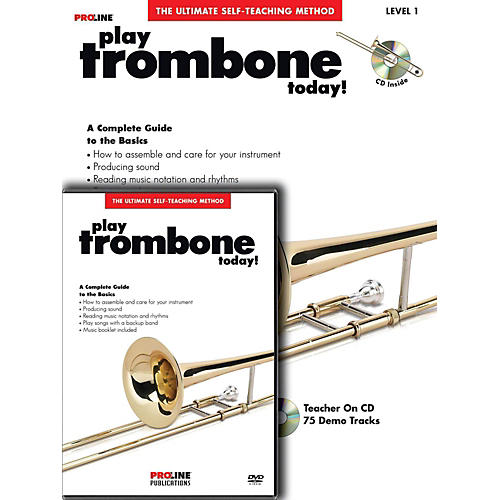 Proline Play Trombone Today Beginner's Pack Book/CD/DVD-thumbnail