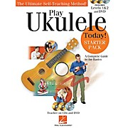 Hal Leonard Play Ukulele Today! Starter Pack - Includes Levels 1 & 2 Book/CDs and a DVD
