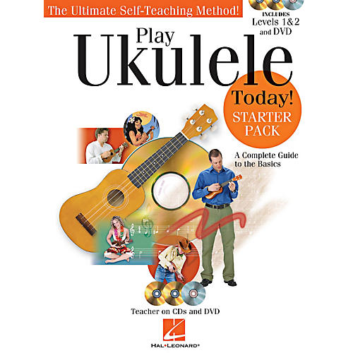 Hal Leonard Play Ukulele Today! Starter Pack - Includes Levels 1 & 2 Book/CDs and a DVD-thumbnail