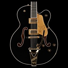 Gretsch Guitars Players Edition G6136T Falcon Hollowbody with String-Thru Bigsby Electric Guitar Black