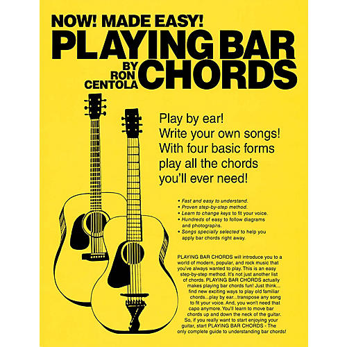 Hal Leonard Playing Bar Chords Book Series Softcover Written by Ron Centola