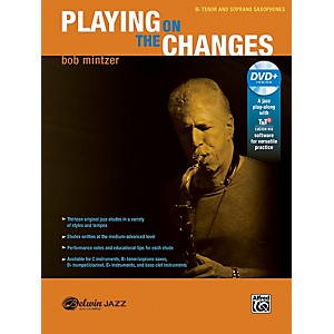 BELWIN Playing on the Changes B-flat Tenor and Soprano Saxophone Book and DVD