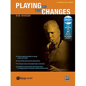 BELWIN Playing on the Changes B-flat Trumpet and Clarinet Book and DVD