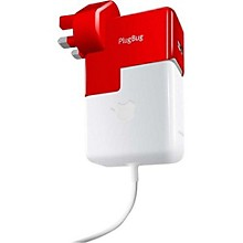 Twelve South Plugbug World MacBook Global Adapter + Usb Charger Red And White