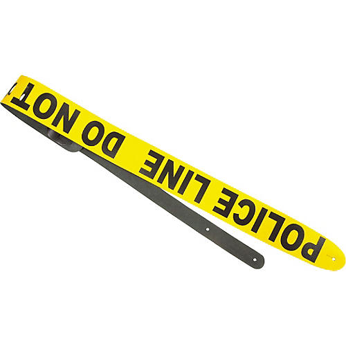 Perri's Police Line Leather Guitar Strap-thumbnail
