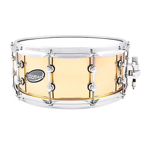 Ahead Polished 1.5mm Cast Bell Brass Snare Drum w/Trick Throw Off 14 x 6 in.