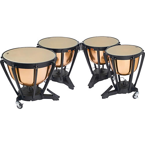 Yamaha Polished Copper Timpani Set 23, 26, 29, 32 Inch w/Covers-thumbnail