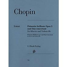 G. Henle Verlag Polonaise Brillante C Major Op. 3 and Duo Concertant E Major Henle Music Folios Series Softcover