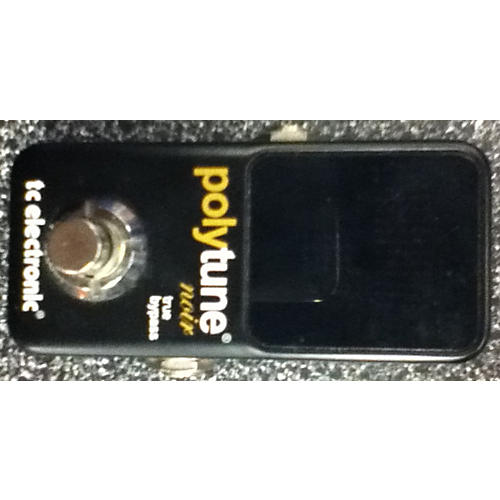 TC Electronic Polytune Noir Black Tuner Pedal Black-thumbnail