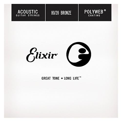 Elixir Polyweb .024 Acoustic Guitar String 4-Pack Singles-thumbnail