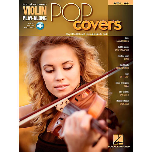Hal Leonard Pop Covers - Violin Play-Along Volume 66 Book/Audio Online-thumbnail