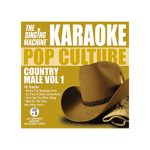 The Singing Machine Pop Culture Country Male Volume 1 Karaoke CD+G-thumbnail