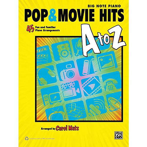 Alfred Pop & Movie Hits A to Z Big Note Piano Book-thumbnail
