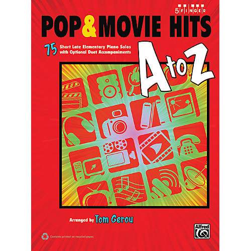 Alfred Pop & Movie Hits A to Z Five Finger Piano Book-thumbnail