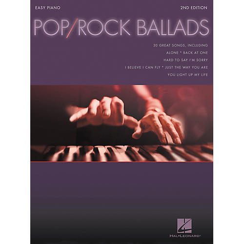 Hal Leonard Pop Rock Ballads For Easy Piano 2nd Edition