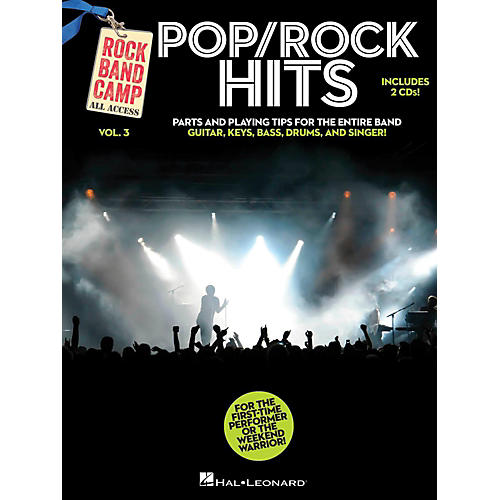 Hal Leonard Pop/Rock Hits - Rock Band Camp Vol. 3 (Book/2-CD Pack) Vocal, Guitar, Keys, Bass, Drums-thumbnail