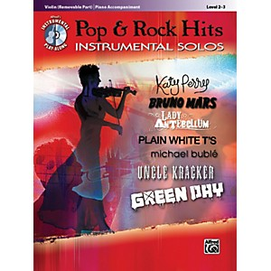 Alfred Pop and Rock Hits Instrumental Solos Violin Book and CD by Alfred