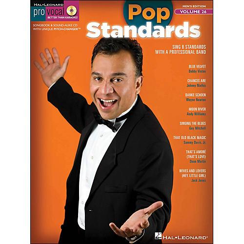 Hal Leonard Pop Standards - Pro Vocal Songbook & CD for Male Singers Volume 26-thumbnail