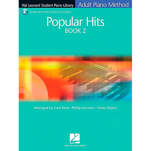 Hal Leonard Popular Hits Book 2 Book/CD Adult Piano Method Hal Leonard Student Piano Library