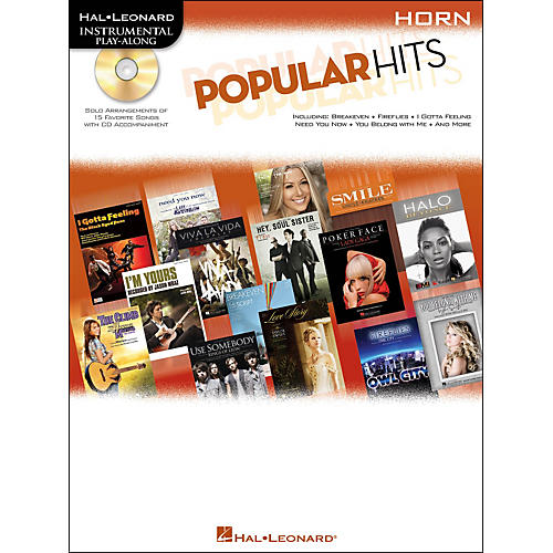 Hal Leonard Popular Hits For Horn - Instrumental Play-Along Book/CD-thumbnail