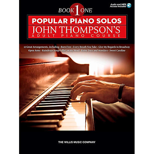 Hal Leonard Popular Piano Solos - John Thompson's Adult Piano Course Book 1 Book/Audio Online-thumbnail