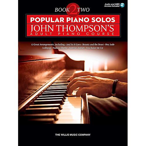Hal Leonard Popular Piano Solos - John Thompson's Adult Piano Course Book 2 Book/Audio Online