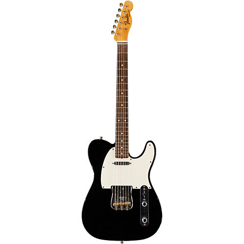 Fender Custom Shop Postmodern Journeyman Relic Telecaster Electric Guitar Black Rosewood