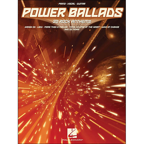 Hal Leonard Power Ballads 30 Rock Anthems arranged for piano, vocal, and guitar (P/V/G)