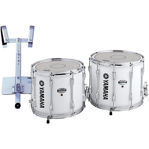 Yamaha Power-Lite Marching Snare Drum with Carrier White Wrap 13 in.