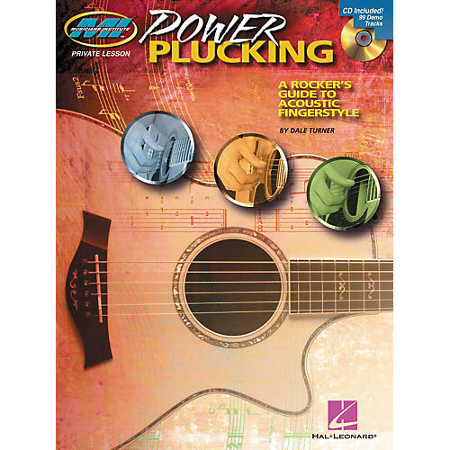 Hal Leonard Power Plucking - A Rocker's Guide to Acoustic Fingerstyle Guitar - Book/CD-thumbnail