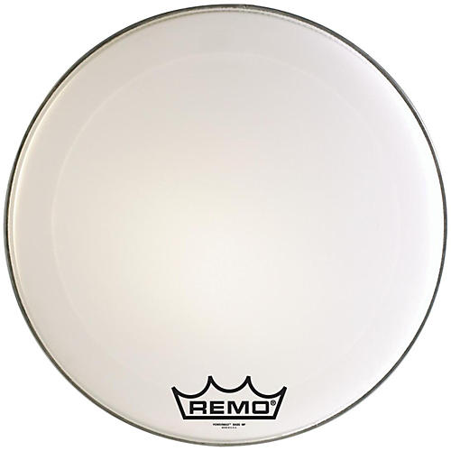 Remo Powermax Marching Bass Drum Crimplock Head Ultra White 16 in.