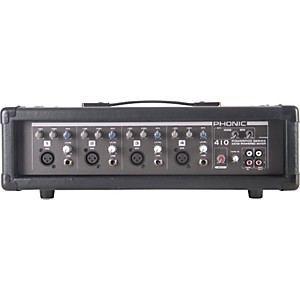 Phonic Powerpod 410 Powered Mixer with Microphone and Speaker Cables by Phonic