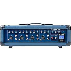 Phonic Powerpod 415R 150 Watt 4-Channel Powered Mixer with USB Recorder by Phonic