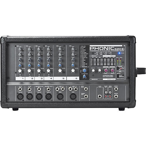 Phonic Powerpod 620 PLUS 200-Watt 6-Channel Powered Mixer with DFX-thumbnail