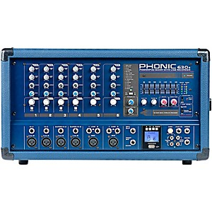 Phonic Powerpod 630R 300 Watt 6-Channel Powered Mixer with USB Recorder by Phonic
