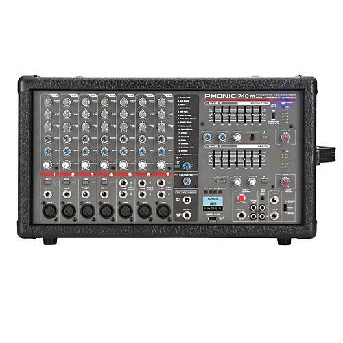 Phonic Powerpod 740 FR 7-Channel Powered Mixer with DFX and USB Recorder-thumbnail