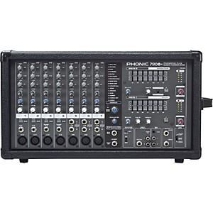 Phonic Powerpod 780 Plus 2X300 Watt 7-Channel Powered Mixer with Digital Effect...