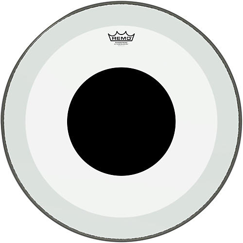 Remo Powerstroke 3 Clear Bass Drum Head with Black Dot-thumbnail