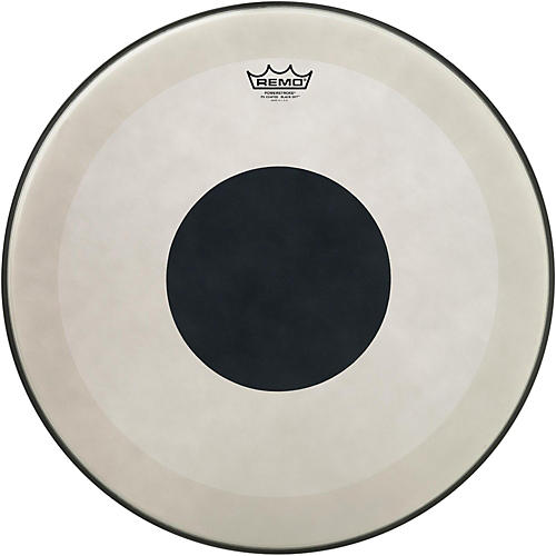 Remo Powerstroke 3 Coated Bass Drum Head with Black Dot-thumbnail