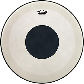 remo powerstroke 3 coated bass drum head with black dot guitar center. Black Bedroom Furniture Sets. Home Design Ideas