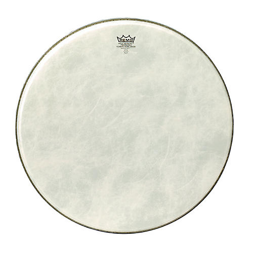 Remo Powerstroke 3 Simulated Calfskin Fiberskyn FA Bass Drumhead-thumbnail