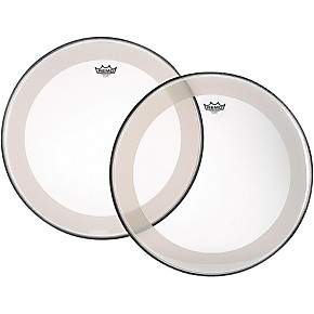 remo powerstroke 4 clear batter bass drum head with impact patch 22 in guitar center. Black Bedroom Furniture Sets. Home Design Ideas