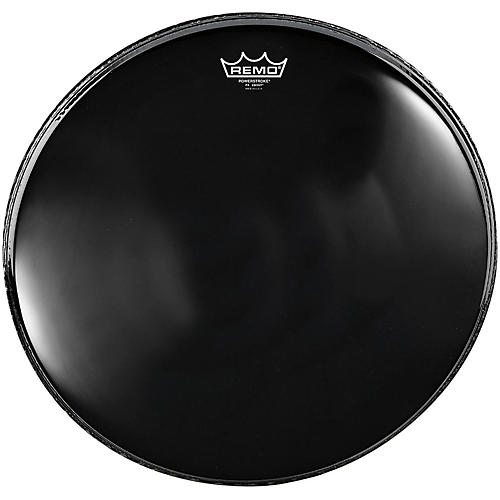 Remo Powerstroke 4 Ebony Batter Bass Drum Head with Impact Patch 18 in.