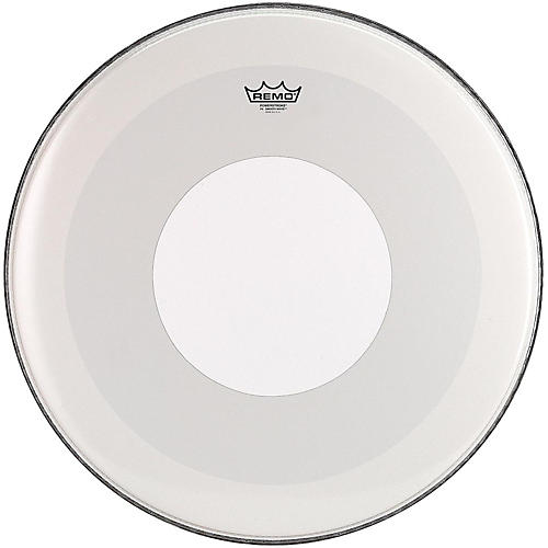 Remo Powerstroke 4 Smooth White Batter Bass Drum Head with White Dot-thumbnail