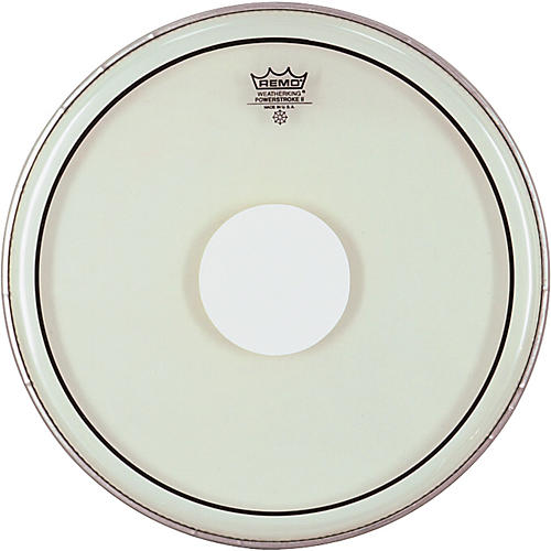 Remo Powerstroke II White Dot Single Ply Snare Batter Head  14 in.-thumbnail