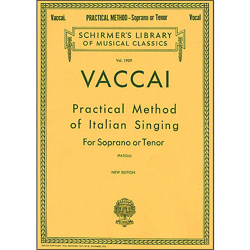 G. Schirmer Practical Method Of Italian Singing for Soprano Or Tenor Voice By Vaccai-thumbnail