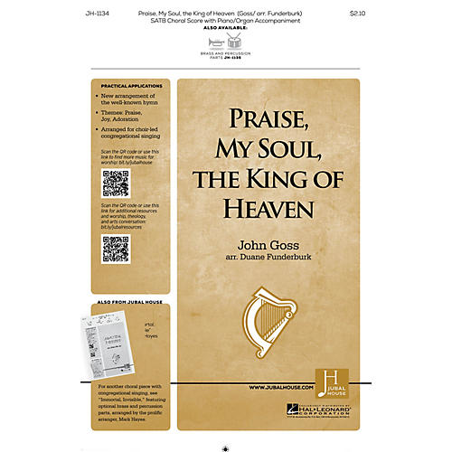 Jubal House Publications Praise, My Soul, the King of Heaven SATB arranged by John Goss